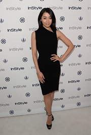 Aimee knew you can't go wrong with a stylish black dress.