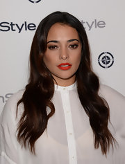 Natalie Martinez's soft waves added just a subtle touch of glamour to her look.