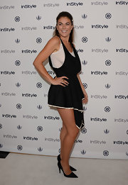 Serinda chose a black asymmetrical mini dress for her look at the InStyle Summer Soiree.
