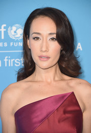 Maggie Q was elegantly coiffed with this curly 'do at the UNICEF Snowflake Ball.