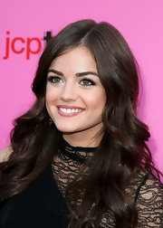 Lucy Hale showed off her long curls while hitting the Young Hollywood Awards. We would have loved to see her hair pulled back to show off the lace detailing of her dress.