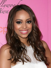 Amber Stevens showed off her long curls while hitting the Young Hollywood Awards.