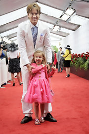 Dannielynn Birkhead stepped out to the Kentucky Derby in a pretty pink dress featuring chiffon roses.