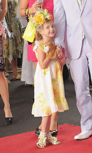 Dannielynn Birkhead attended the Kentucky Derby wearing an adorable pair of sandals featuring cheerful yellow butterflies.