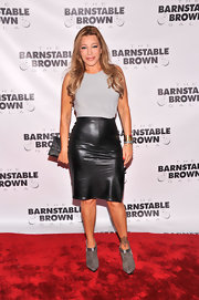 A leather pencil skirt added some edge to Taylor Dayne's red carpet look at the 2013 Barnstable-Brown Derby Gala.