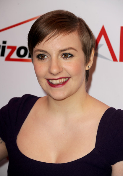 More Pics of Lena Dunham Berry Lipstick (3 of 8) - Lena Dunham Lookbook - StyleBistro