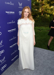 Kimberly Brook looked angelic in this gauzy white gown during the Chrysalis Butterfly Ball.