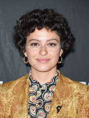 Alia Shawkat looked adorable with her Little Orphan Annie curls at the New York Television Festival screening of 'Search Party' season 2.