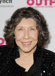 Lily Tomlin attended the Outfest Legacy Awards wearing her hair in a curly bob.