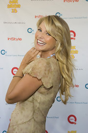 Christie Brinkley showed off her summer waves while walking the red carpet at Super Saturday.