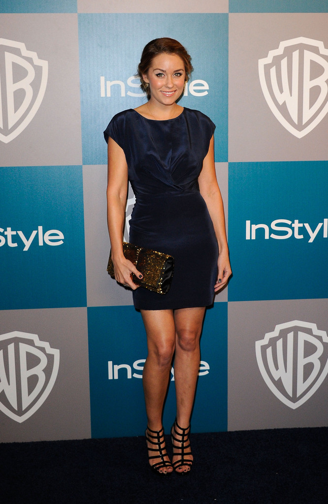 TV personality Lauren Conrad arrives at 13th Annual Warner Bros. And InStyle Golden Globe Awards After Party at The Beverly Hilton hotel on January 15, 2012 in Beverly Hills, California.