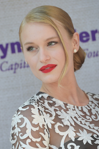 Leven Rambin oozed Old Hollywood glamour with this elegant side chignon at the Chrysalis Butterfly Ball.