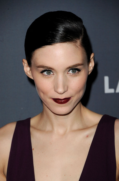 More Pics of Rooney Mara Dark Lipstick (1 of 17) - Dark Lipstick Lookbook - StyleBistro