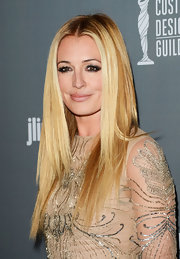 Cat Deeley kept her look simple and chic with a center part and straight blonde locks.