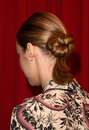 Brie Larson donned an intricate chignon while attending the AFI Awards.