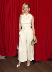 January Jones was elegant in a cream colored jumpsuit at the AFI Awards.