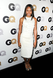 This is not your ordinary LWD. Allyson wore this number with large white paillettes to the GQ Men of the Year party.