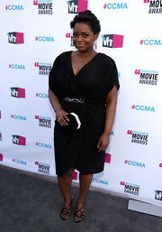 Octavia Spencer looked refined wearing a black faux-wrap dress to the Critics' Choice Awards.