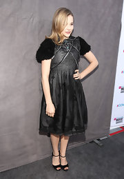 Chloe Moretz selected an unusual cocktail dress with textured sleeves for the Critics' Choice Awards.