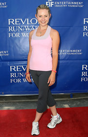 Beverly Mitchell looked fresh wearing a pink athletic top during the Revlon Run/Walk for Women.
