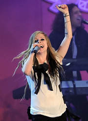 "Singer Avril Lavigne has a black star tattooed on her inner left wrist. She also has a fragrance named ""Black Star."""