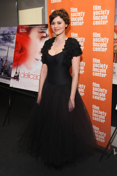 Emilie Simon wore this 'Black Swan' inspired look at the Rendez-Vous Gala.