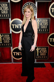 Julie was on trend in a deep plunging black silk jumpsuit at the SAG Awards.
