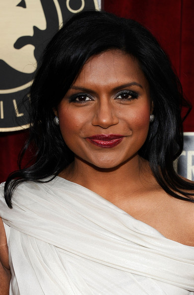 More Pics of Mindy Kaling Evening Dress (1 of 2) - Mindy Kaling Lookbook - StyleBistro [red carpet,hair,face,eyebrow,hairstyle,shoulder,beauty,black hair,chin,lip,layered hair,mindy kaling,screen actors guild awards,california,los angeles,the shrine auditorium,17th annual screen actors guild awards]