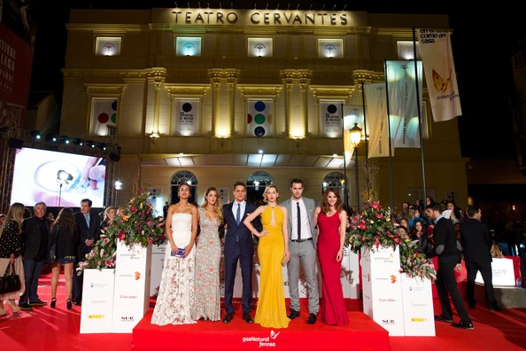 More Pics of Ana de Armas Print Dress (4 of 33) - Dresses & Skirts Lookbook - StyleBistro [red carpet,event,carpet,fashion,flooring,ceremony,award ceremony,fashion design,director,david menkes,andrea duro,megan montaner,alejandra onieva,l-r,17th,malaga film festival: day 6,actors,malaga]