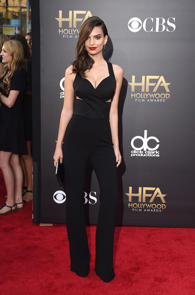 More Pics of Emily Ratajkowski Statement Ring (1 of 23) - Decorative Rings Lookbook - StyleBistro [clothing,red carpet,carpet,shoulder,dress,premiere,flooring,fashion,joint,waist,the palladium,hollywood,california,18th annual hollywood film awards,emily ratajkowski]