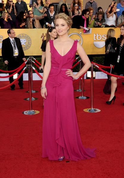 Dianna Agron in Carolina Herrera