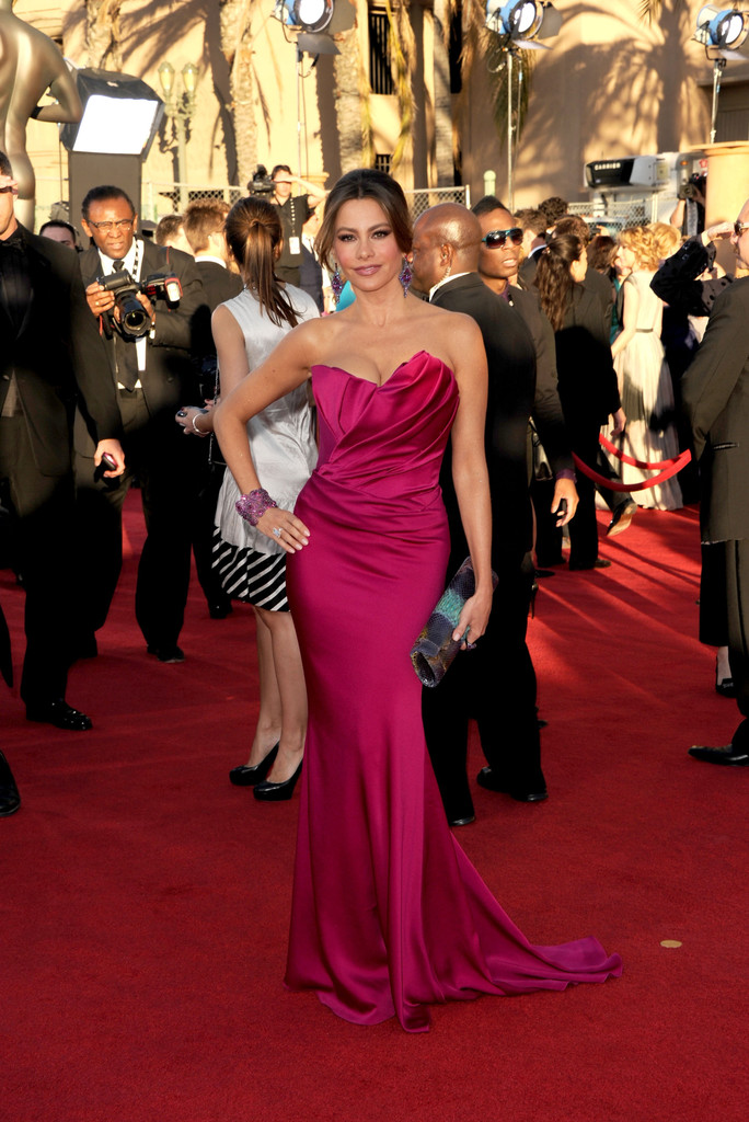Actress Sofía Vergara arrives at the 18th Annual Screen Actors Guild Awards at The Shrine Auditorium on January 29, 2012 in Los Angeles, California.