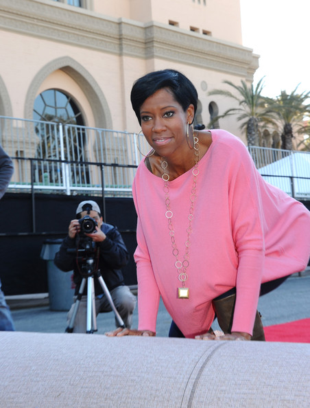 More Pics of Regina King Short Side Part (1 of 13) - Short Hairstyles Lookbook - StyleBistro [pink,smile,actress,regina king,screen actors guild awards,red carpet,presenter rehearsals,red carpet,california,los angeles,the shrine auditorium,screen actors guild awards ceremony]