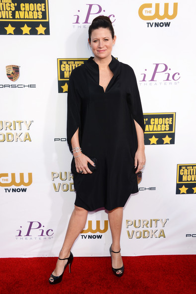 Emma Tillinger Koskoff opted for a simple yet stylish black shirtdress for her Critics' Choice Awards red carpet look.
