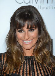 Baby pink lips made Lea Michele look super-sweet.