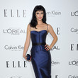 Krysten Ritter in a Romona Keveza Dress