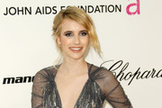 Emma Roberts Sparkled in Jenny Packham at Elton's Oscar Viewing Party