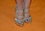 Everything about Lacey Chabert's shoes this evening was glitz and glamour.