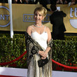 Gabrielle Carteris Wore a White Strappy Dress and a Wrap at the 2013 SAG Awards