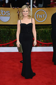Amy Poehler slipped into this fitted black gown for the Screen Actors Guild Awards.