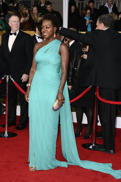 More Pics of Viola Davis One Shoulder Dress (1 of 5) - One Shoulder Dress Lookbook - StyleBistro