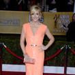 Jane Krakowski Wore a Shimmering Coral Gown at the 2013 SAG Awards