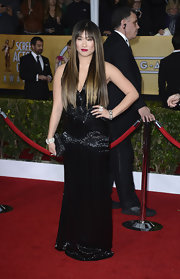 Jenna's black gown had some serious sheen on the SAG red carpet!