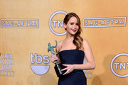 Actress Jennifer Lawrence, winner of Outstanding Performance by a Female Actor in a Leading Role for