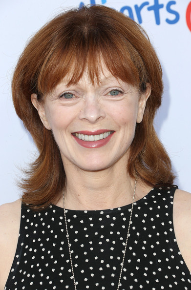 Frances Fisher wore her hair in a fun flip style at the Children Mending Hearts Style Sunday.