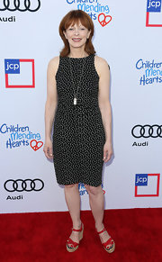 Frances Fisher chose an airy star-print dress for her red carpet look during the Children Mending Hearts Style Sunday.