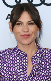 Clea DuVall opted for minimal styling with a simple ponytail and center-parted bangs when she attended the Children Mending Hearts event.