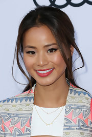 Jamie Chung styled her hair in a sexy half-up half-down 'do for the Children Mending Hearts event.
