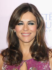 Elizabeth Hurley's smoky eye makeup simply smoldered beneath the paparazzi's bright camera flashes.