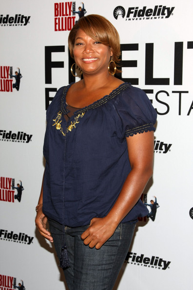 Queen Latifah often keeps things casual, but she always accessorizes with nice jewelry.